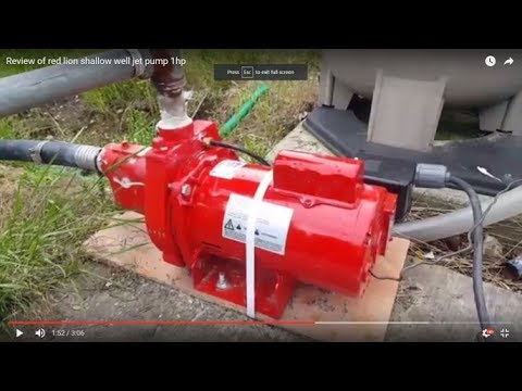 Review of red lion shallow well jet pump 1hp - YouTube