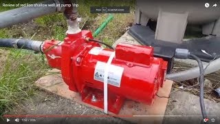 Review of red lion shallow well jet pump 1hp
