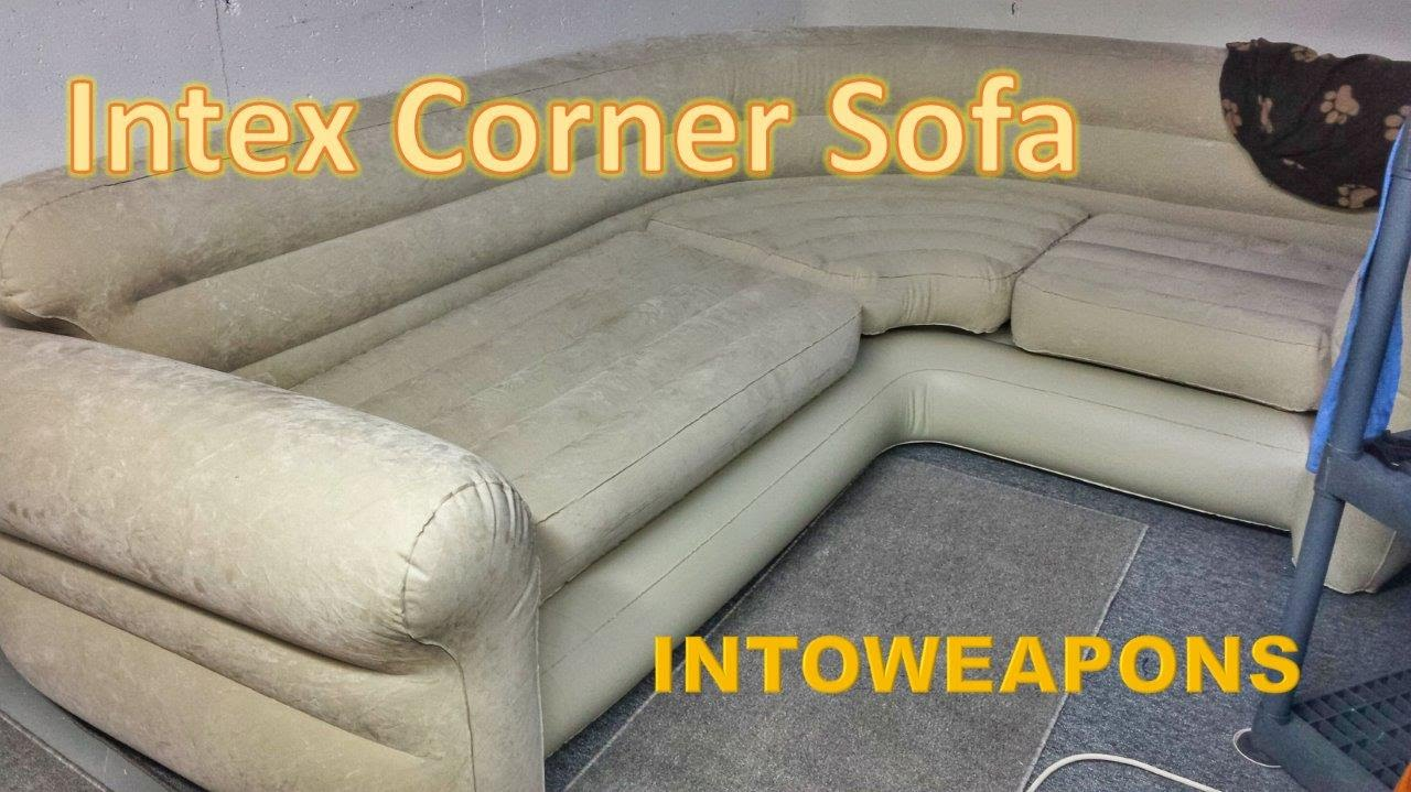 Intex Sofa Chair Log Cabin Sofas Inflatable Corner Review Budget Couch Youtube
