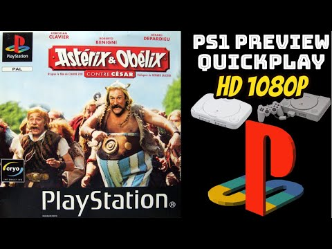 Asterix & Obelix Take On Caesar (PS1) GAMEPLAY/PREVIEW/QUICKPLAY NO COMMENTARY HD 1080p