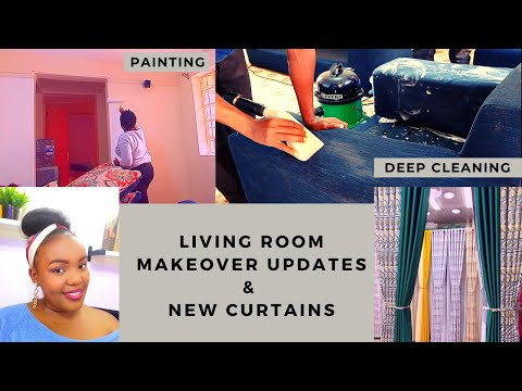 LIVING ROOM MAKEOVER UPDATES // REPAINTING // NEW CURTAINS // DEEP CLEANING // Part 1