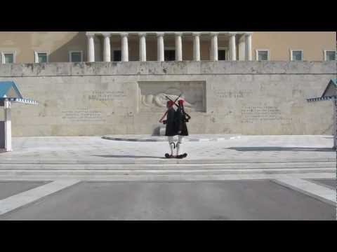 Evzones at Greek Parliament