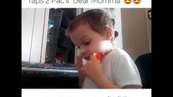 """3 year old boy with Autism raps 2Pac's """"Dear Momma"""" 😍👏"""