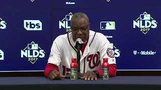 Dusty Baker Postgame Interview | Cubs vs Nationals Game 5 NLDS