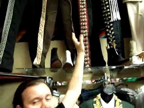 Ryan shops for Charro pants on Olvera St.
