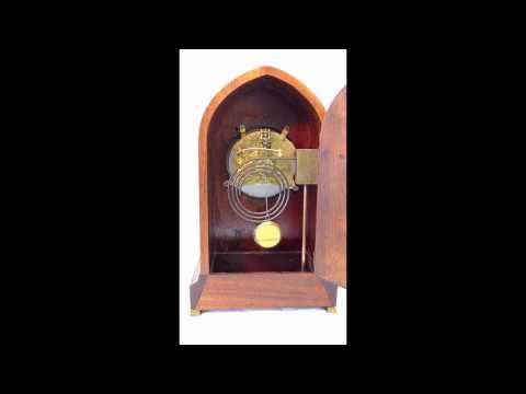 """Waterbury """"York"""" Antique Mantel Clock w/ Brocot Visible Escapement, stiking 11 o'clock.mov"""