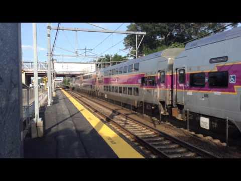 MBTA Commuter Rail Trains in South Attleboro