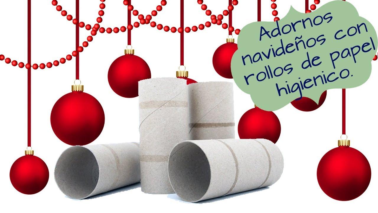 Adornos navide os con rollos de papel higi nico 10 for Como hacer adornos navidenos faciles
