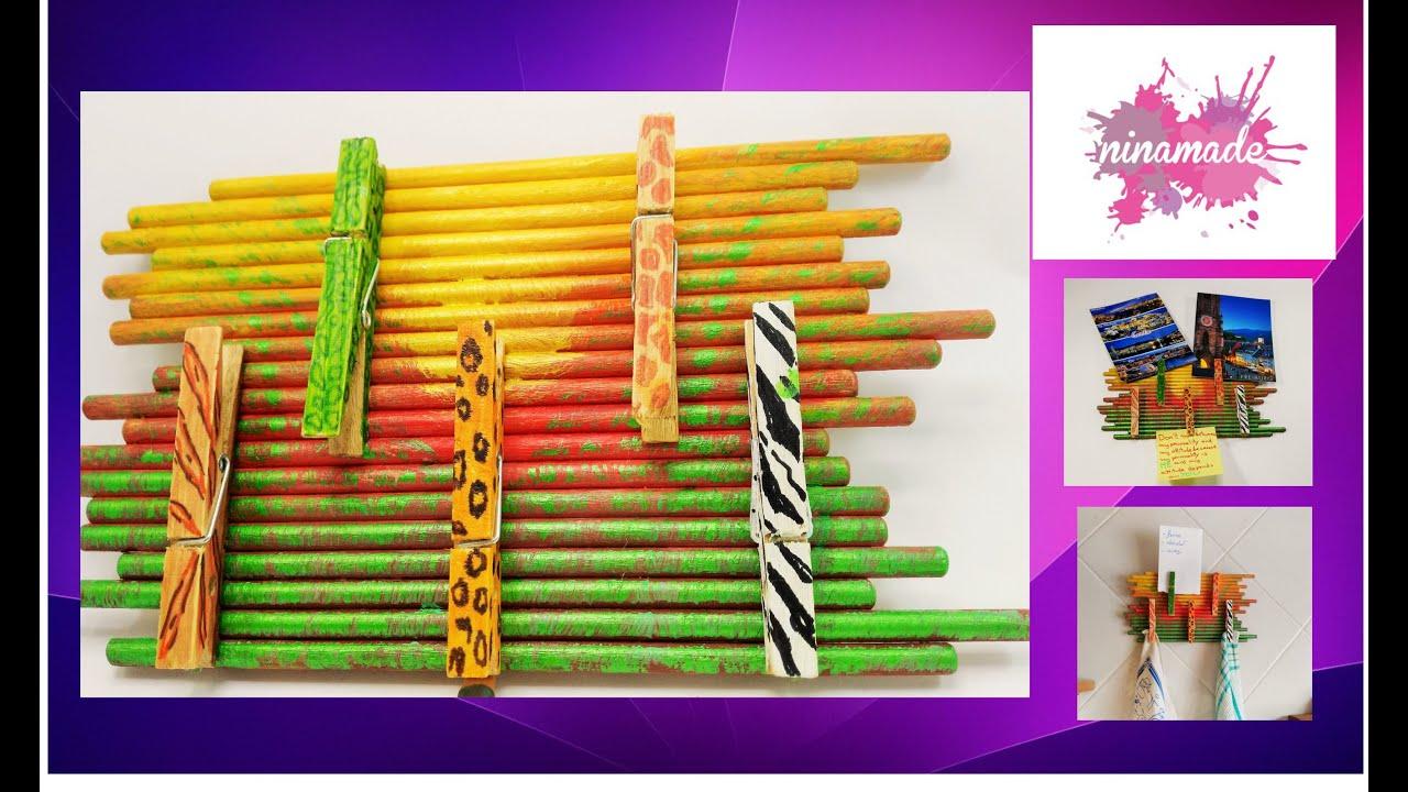 soporte mural con palitos manualidad para nios support with sticks