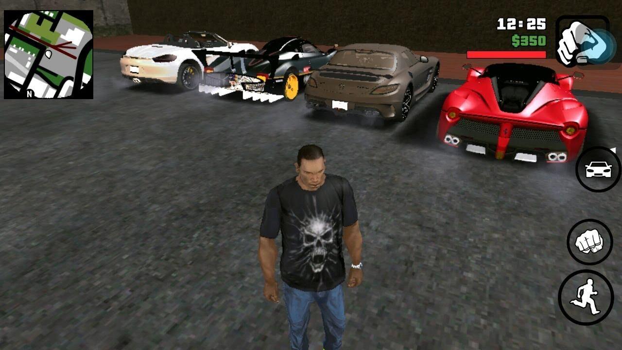 скачать gta san andreas super cars на андроид