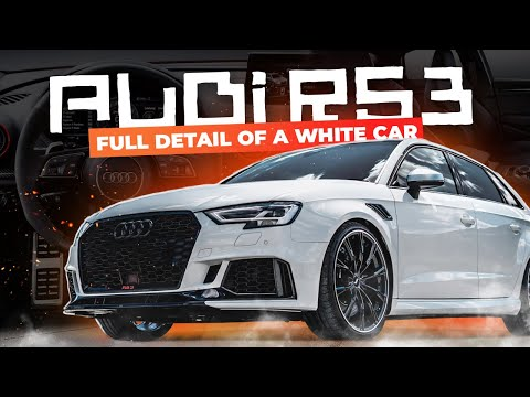 AUDI RS3 2018: FULL DETAIL OF A WHITE CAR !