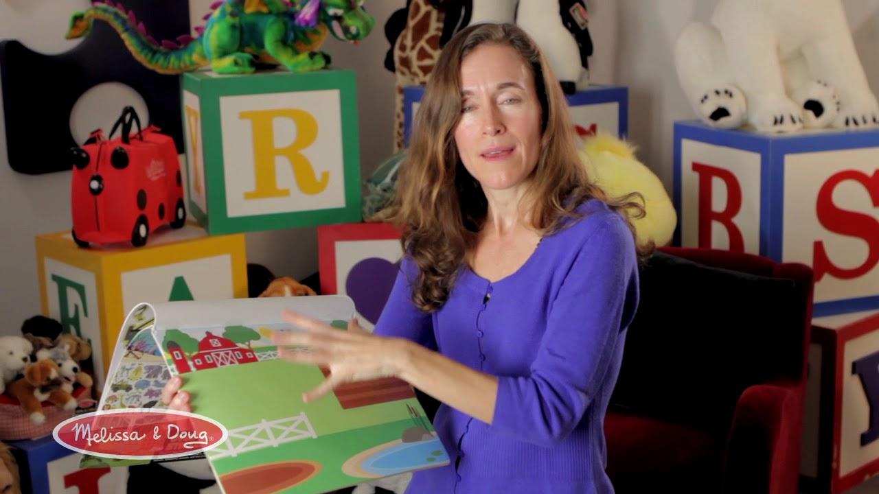 Melissa Doug Reusable Sticker Pad