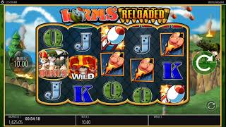 Worms reloaded jackpot king game @ £10 stake.