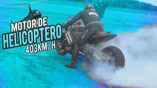 MOTO CON MOTOR DE HELICOPTERO /LA MAS VELOS DEL MUNDO?? 403KM/H/MTT Y2K Curiosidades