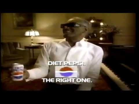 1990 Diet Pepsi Ray Charles wise guy commercial the right one baby
