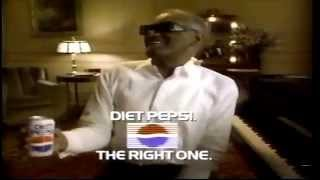 1990 Diet Pepsi Ray Charles wise guy commercial the right one baby Thumbnail