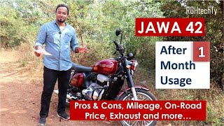 Jawa 42 Review after 1 Month Usage | Pros & Cons, Mileage, Exhaust, Price, Accessories