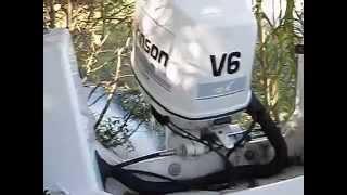 "1996 Johnson Evinrude 150 HP V6 Outboard Boat Motor OMC 25"" Shaft"