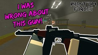 Roblox Phantom Forces - I Was Wrong About This Gun! - #43 - Live Commentary