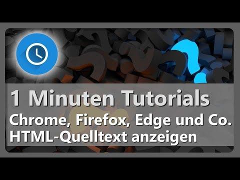 HTML-Quelltext Im Browser Anzeigen