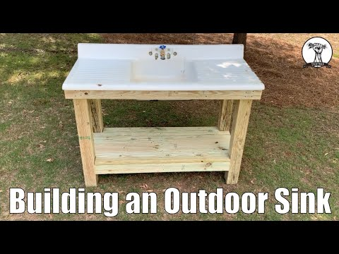 Outdoor Sink Build - Fishing Sink - Tips And Tricks