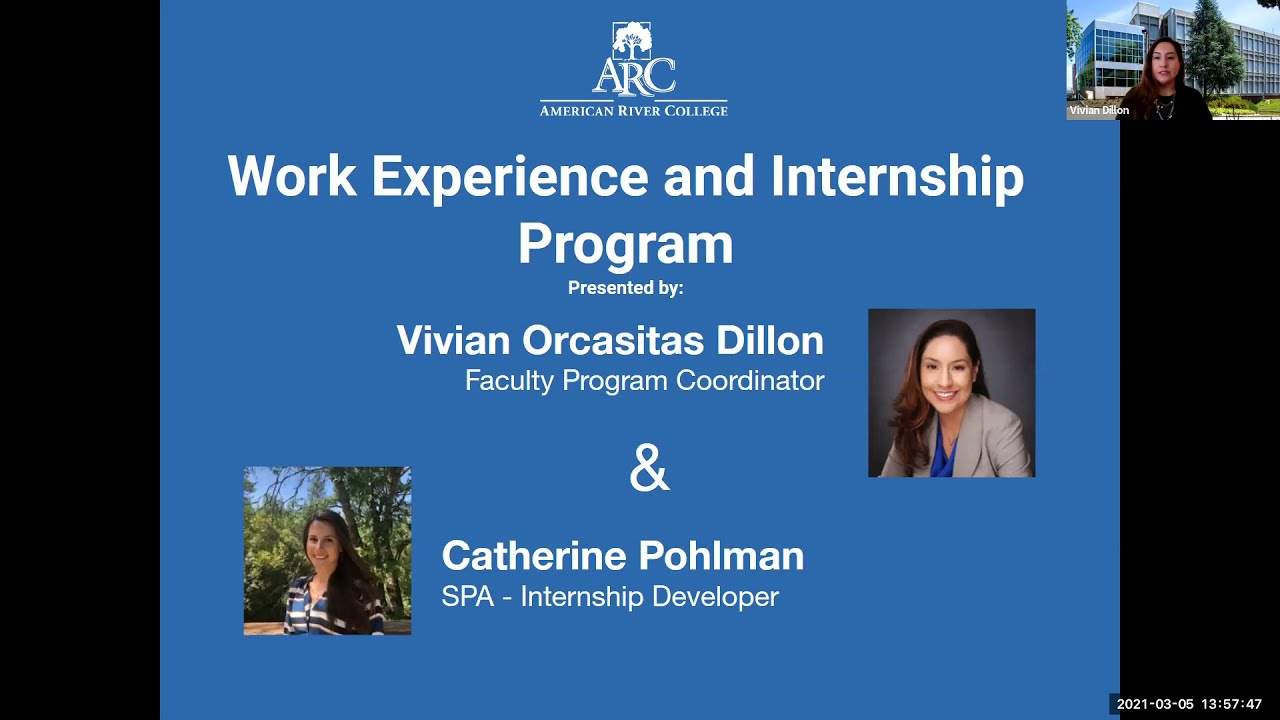 Los Rios (ARC): ARC Work Experience and Internship Program