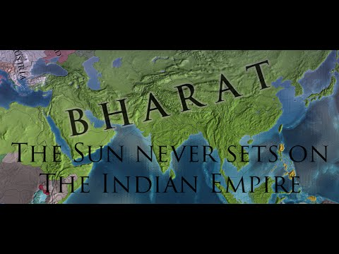 EU4 - Sun Never Sets on the Indian Empire Acheivment - Timelapse