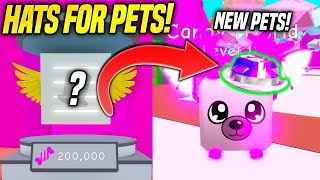 *NEW* HATS FOR PETS AND NEW EGG IN BUBBLE GUM SIMULATOR UPDATE!! (Roblox)