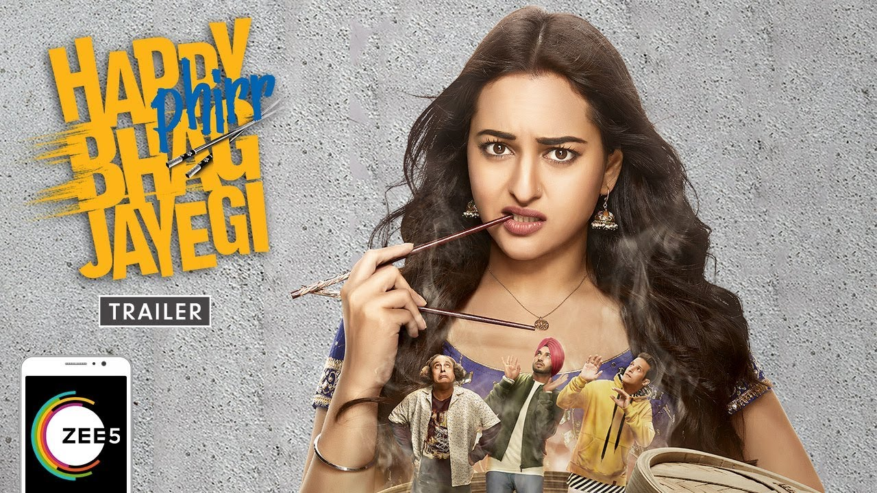 Download Happy Phirr Bhag Jayegi Full Movie   Sonakshi Sinha, Jimmy Shergill, Diana Penty   Streaming Now