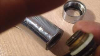 Замена прокладки  гусака смесителя на кухне