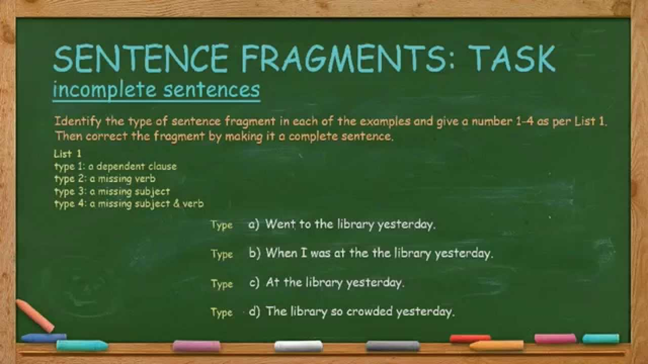 Sentence Fragments Youtube