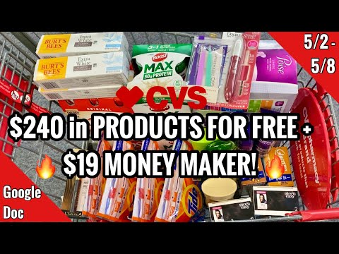 CVS Free & Cheap Coupon Deals & Haul | 5/2 – 5/8 | $19 Money Maker Week! | $240 SAVED🔥
