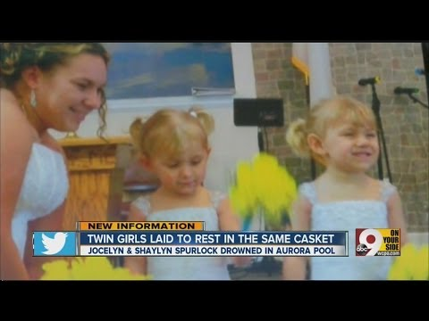 Twin girls, 2, laid to rest in same casket after dying together in drowning accident