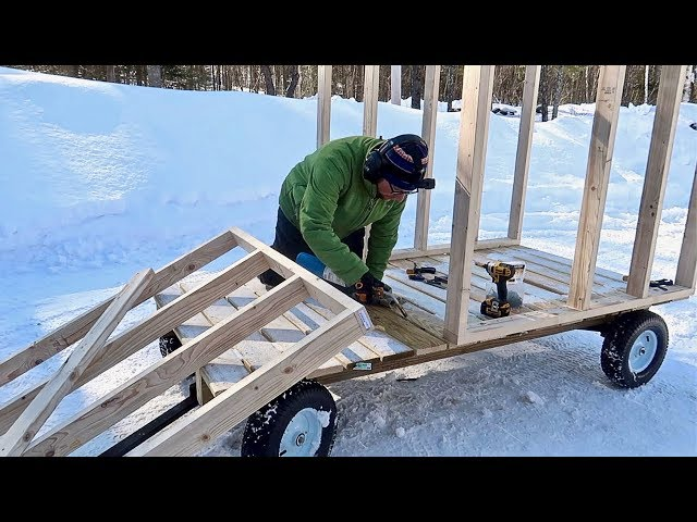This would Go so Much Faster If we Didn't Have to MELT ICE!  (Mobile Pig House)