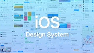 iOS design system. Figma components and templates library