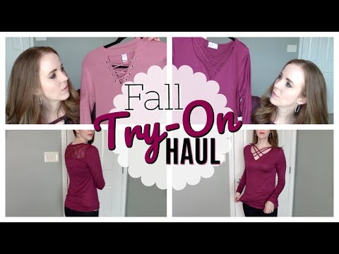 FALL & WINTER CLOTHING HAUL - TRY ON - FASHION ON A BUDGET - WALMART & GORDMANS HAUL - 동영상