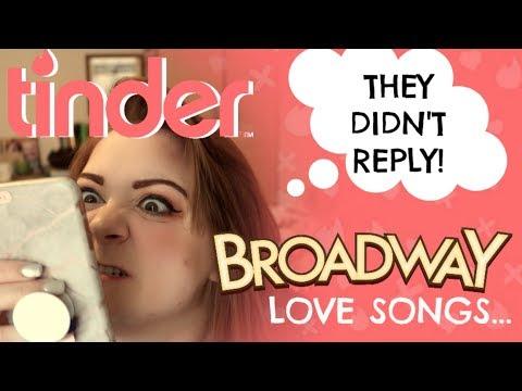 BROADWAY LOVE SONGS ON TINDER - FAIL!!! Amy Lovatt