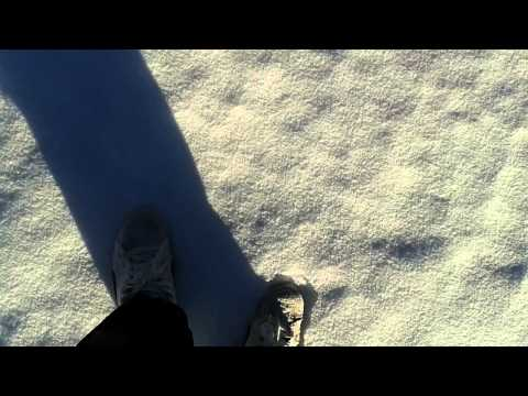 How to walk on snow