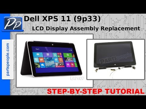 Dell XPS 11 (9p33) LCD Display Assembly Video Tutorial Teardown