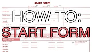 How to fill a start form (Entertainment Partners)