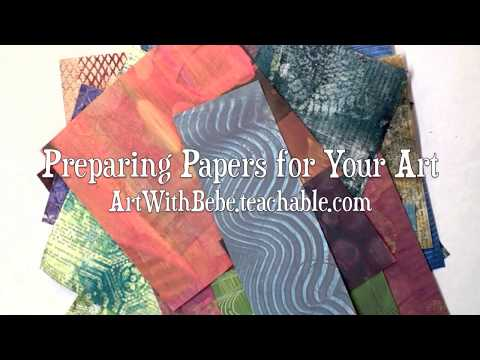 "Online Class ""Preparing Papers for Your Art"""