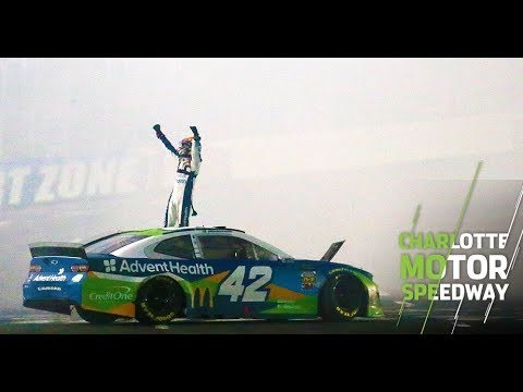 Casey Carter - Larson wins Charlotte Motor Speedway's All-Star Race, Bowyer punches Newman