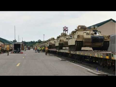 HUGE DRILL National Guard from Minnesota heading to Fort Hood Texas!!