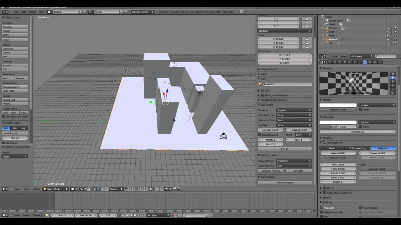 Lighting Simulation With Livi Blender And Radiance