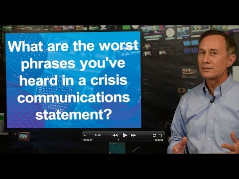 The Worst Phrases You've Ever Heard In A Crisis Communications Statement