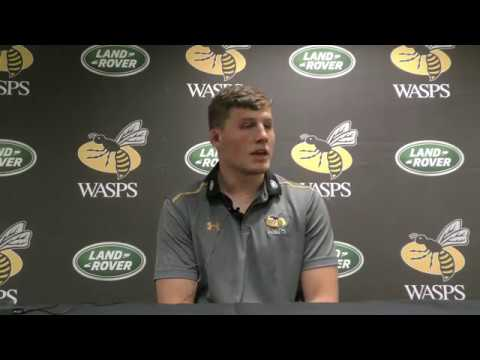 Tom Willis post Northampton Saints Premiership Rugby Cup
