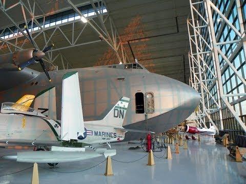 HD Inside Spruce Goose Howard Hughes H-4 Hercules at Evergreen Museum McMinnville Oregon Aviator