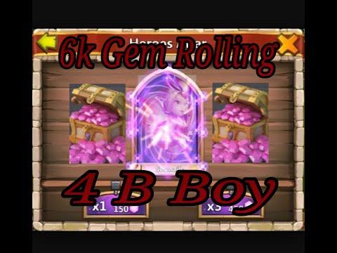 6k Gem Rolling For B BOY Pixie - Castle Clash