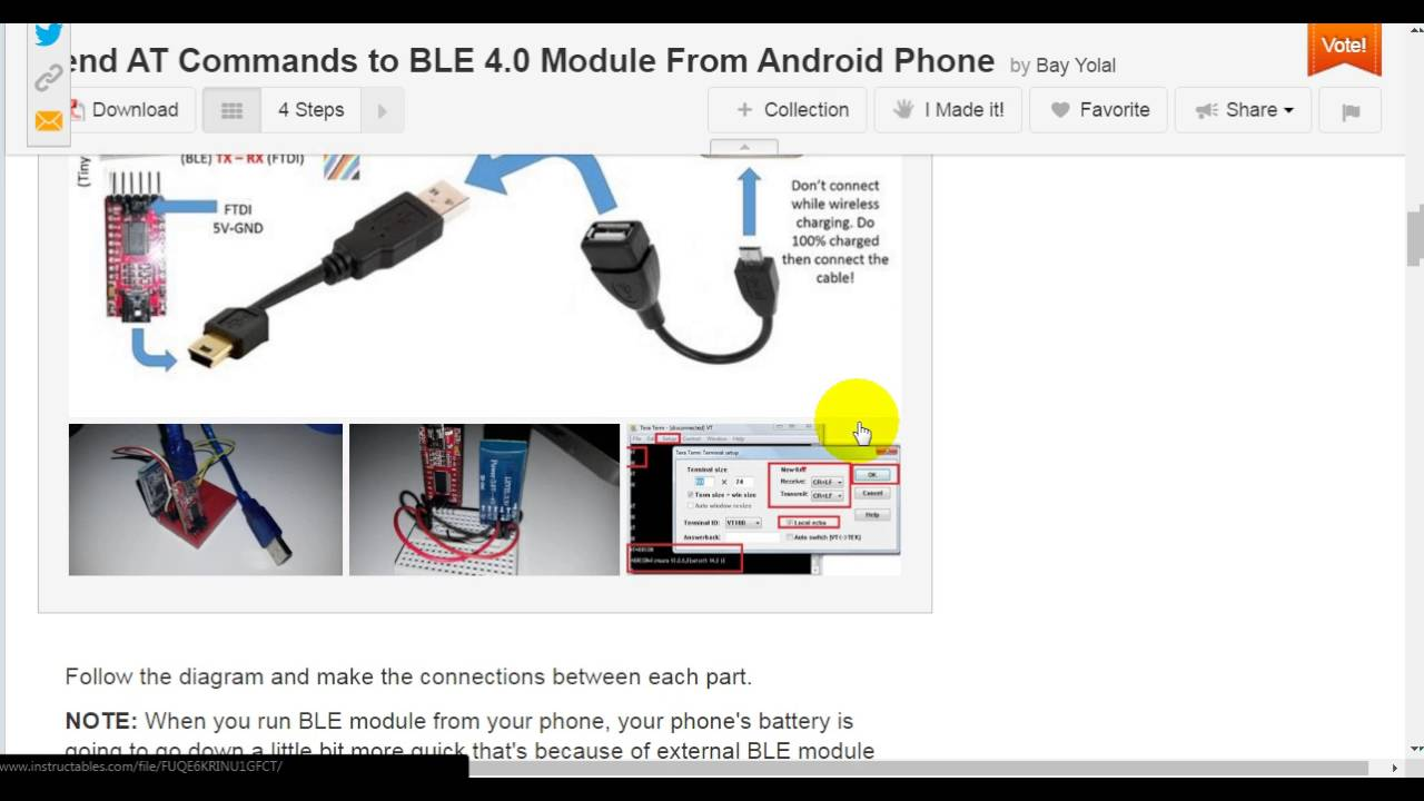Send AT Commands to BLE 4 0 Module From Android Phone: 5 Steps