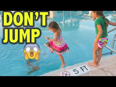 MY BABIES JUMP IN THE POOL 😱 | KIDS FIRST TENNIS PRACTICE